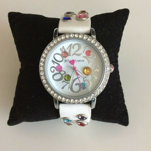 Betsy Johnson Women's Watch Pave Embellished Bling